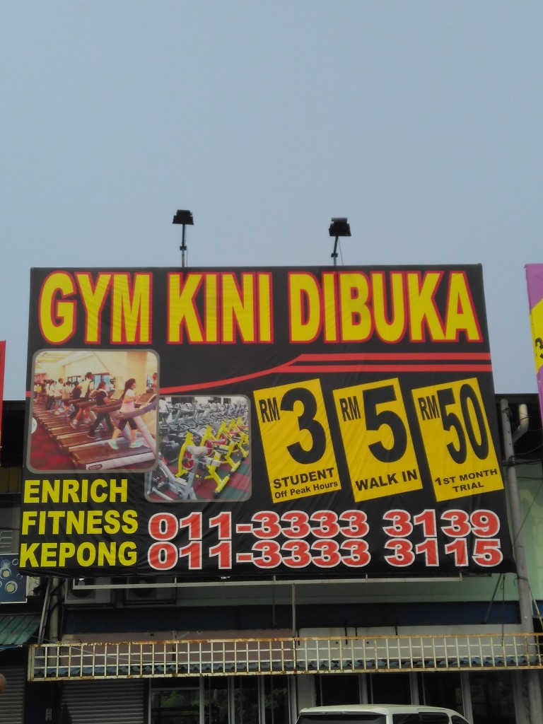 The Enrich Gym Kepong@ Kuala Lumpur – Near Kepong Jusco