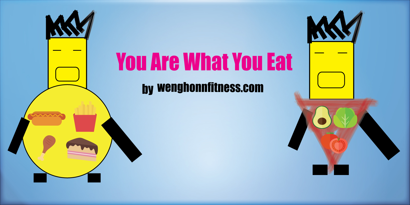 If you eat healthy food you will be losing weight ,and be healthy.If you eat fast food,you will gain some shit weight,and your body will be shitty as well