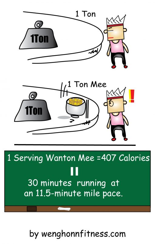 How To Burn Off Wanton Mee Calories?