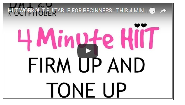 Morning hiit training workouts for beginners in 4 minutes