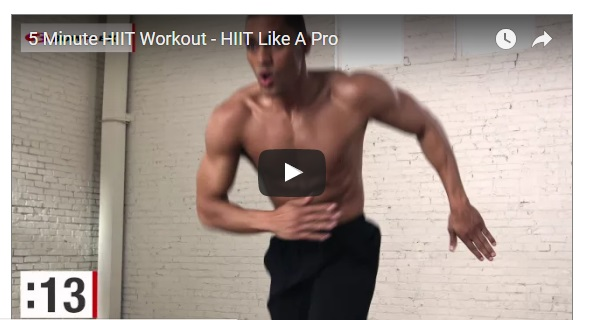 mens fitness hiit in 5 minutes