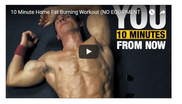 mens home fitness hiit in 10 minutes