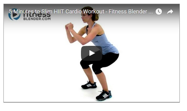 The hiit workout Under 5 minutes