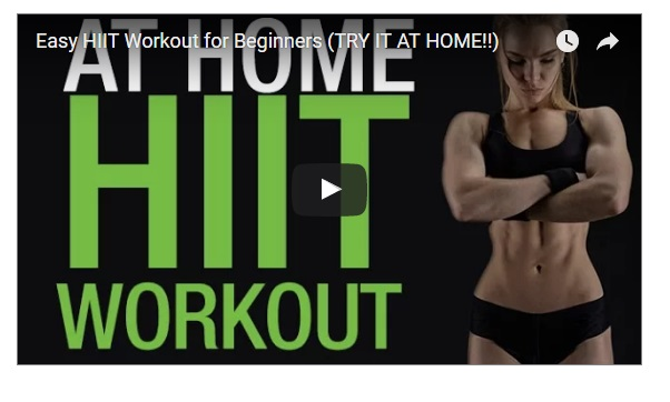 hiit HOME training workouts for beginners