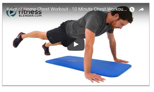 10 Minutes Total Chest Workout