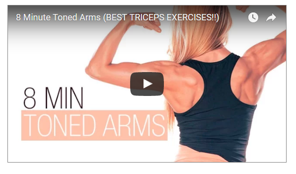8 Minutes FaT Burning Triceps WOrkout