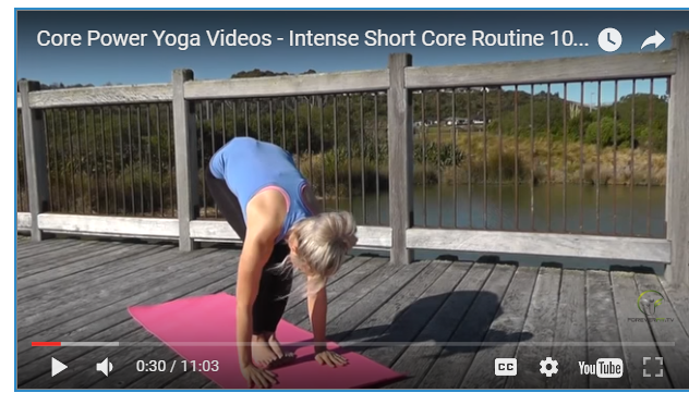 10 Minutes Core Power Yoga