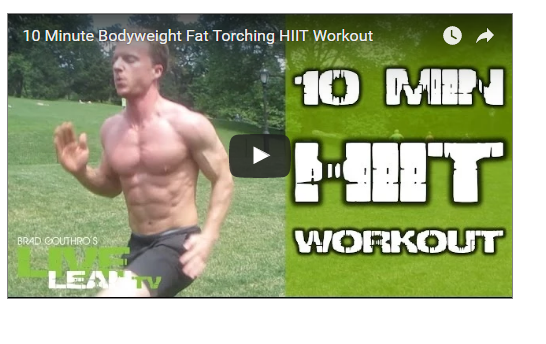 10 Minute Fat Torching HIIT