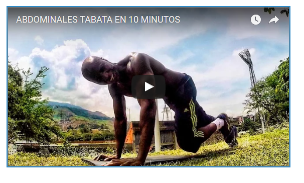 10 MInutes Tabata Six PAck Workout