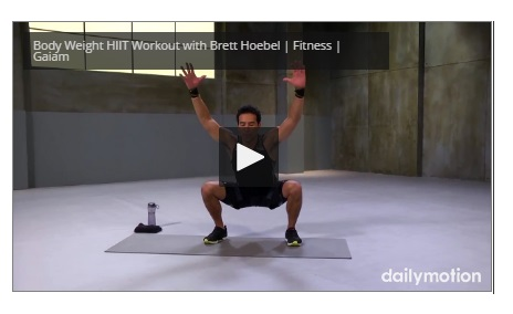 Under 10 minutes Body Weight HIIT Workout with Brett Hoebel