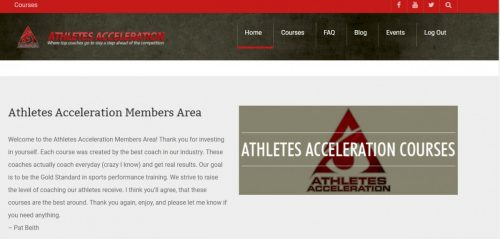 front page Speed and Agility Coach Certification Course by Athletes Acceleration Review