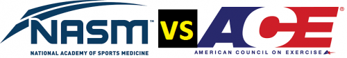 what is the different between NASM AND ACE PERSONAL TRAINING certification COMPARISON
