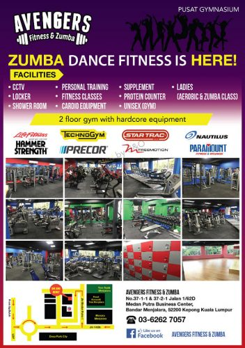 24 hours Avengers Fitness and Zumba gym in Kepong Manjalara